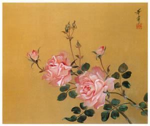 高畠華宵 – 薔薇 (高畠華宵大正ロマン館図録より)のサムネイル画像