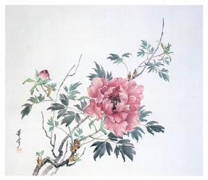 高畠華宵 – 富貴図 (高畠華宵大正ロマン館図録より)のサムネイル画像