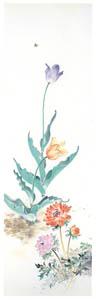 高畠華宵 – チューリップとアネモネ (高畠華宵大正ロマン館図録より)のサムネイル画像