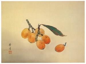 高畠華宵 – びわの実 (高畠華宵大正ロマン館図録より)のサムネイル画像