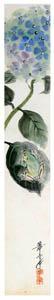 高畠華宵 – あじさいと蛙 (高畠華宵大正ロマン館図録より)のサムネイル画像