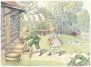 エルサ・ベスコフ – 挿絵5 (ペッテルとロッタのぼうけんより)のサムネイル画像