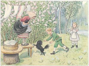 エルサ・ベスコフ – 挿絵6 (ペッテルとロッタのぼうけんより)のサムネイル画像