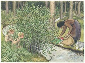 エルサ・ベスコフ – 挿絵10 (ペッテルとロッタのぼうけんより)のサムネイル画像