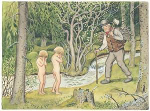 エルサ・ベスコフ – 挿絵11 (ペッテルとロッタのぼうけんより)のサムネイル画像