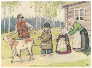 エルサ・ベスコフ – 挿絵12 (ペッテルとロッタのぼうけんより)のサムネイル画像