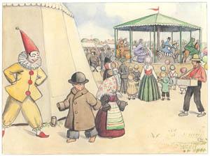 エルサ・ベスコフ – 挿絵13 (ペッテルとロッタのぼうけんより)のサムネイル画像