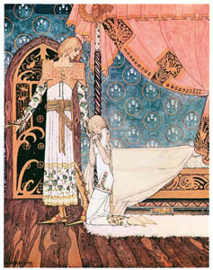 "thumbnail Kay Nielsen – ""Tell me the way, then,"" she said, ""and I'll search you out"" (East of the Sun and West of the Moon) [from Kay Nielsen]"