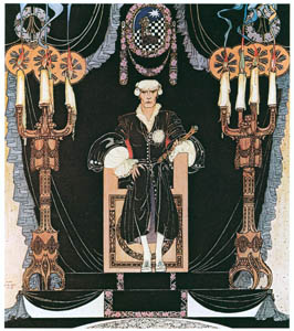 thumbnail Kay Nielsen – And there on a throne all covered with black sat the Iron King (Minon-Minette) [from Kay Nielsen]