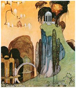 カイ・ニールセン – フェリシアまたは撫子の鉢 1 (Kay Nielsenより)のサムネイル画像