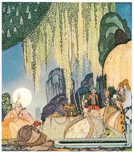 カイ・ニールセン – フェリシアまたは撫子の鉢 2 (Kay Nielsenより)のサムネイル画像