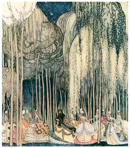 thumbnail Kay Nielsen – The Princesses  on the way to the dance (The Twelve Dancing Princesse) [from Kay Nielsen]