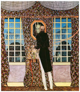 thumbnail Kay Nielsen – And the mirror told him that his was indeed the withered face and form (The Man Who Never Laughed) [from Kay Nielsen]