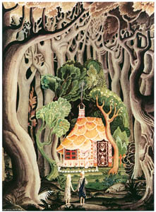 thumbnail Kay Nielsen – The Cottage was built of bread and cake (Hansel and Gretel) [from Kay Nielsen]