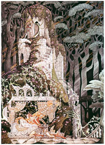thumbnail Kay Nielsen – The Prince knelt down and gave her a kiss (Sleeping Beauty) [from Kay Nielsen]