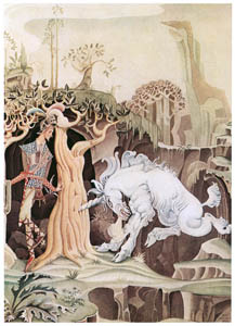 thumbnail Kay Nielsen – The Unicom drove her horn into the tree (The Brave Little Tailor) [from Kay Nielsen]