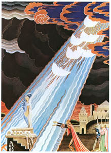 thumbnail Kay Nielsen – Six white swans were flying high in the sky (The White Swans) [from Kay Nielsen]