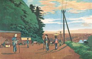 thumbnail Kobayashi Kiyochika – A View of the Former Temple of Confucius at Yushima [from Kiyochika – Ukiyoe meisaku senshū]