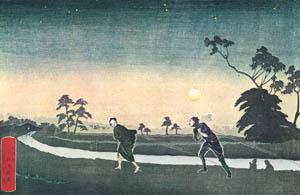 小林清親 – 東京小梅曳船夜図 (浮世絵名作選集 清親より)のサムネイル画像