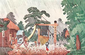 thumbnail Kobayashi Kiyochika – The Shrine of Umewaka [from Kiyochika – Ukiyoe meisaku senshū]