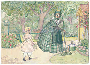 thumbnail Elsa Beskow – Plate 3 [from Aunt Green, Aunt Brown and Aunt Lavender]
