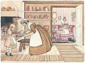 エルサ・ベスコフ – 挿絵4 (みどりおばさん、ちゃいろおばさん、むらさきおばさんより)のサムネイル画像