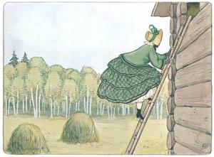 エルサ・ベスコフ – 挿絵7 (みどりおばさん、ちゃいろおばさん、むらさきおばさんより)のサムネイル画像