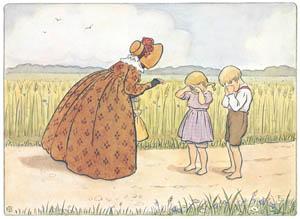 エルサ・ベスコフ – 挿絵9 (みどりおばさん、ちゃいろおばさん、むらさきおばさんより)のサムネイル画像
