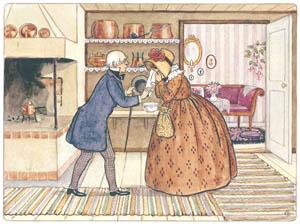 エルサ・ベスコフ – 挿絵10 (みどりおばさん、ちゃいろおばさん、むらさきおばさんより)のサムネイル画像