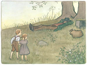 thumbnail Elsa Beskow – Plate 11 [from Aunt Green, Aunt Brown and Aunt Lavender]