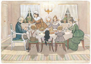 エルサ・ベスコフ – 挿絵14 (みどりおばさん、ちゃいろおばさん、むらさきおばさんより)のサムネイル画像
