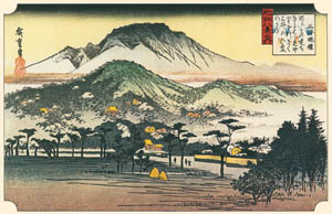thumbnail Utagawa Hiroshige – The Evening Bells of the Mii Temple [from Famous Places in Kamigata – Ukiyoe meisaku senshū]