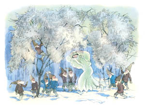 thumbnail Ernst Kreidolf – In the Frosty Forest [from Winter's Tale]