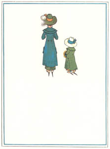 thumbnail Kate Greenaway – As I stepped out to hear the news, I met a lass in socks and shoes [from Under the Window]