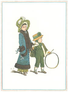 thumbnail Kate Greenaway – Little Fanny wears a hat Like her ancient Grannie [from Under the Window]