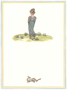 """thumbnail Kate Greenaway – """"Margery Brown, on the top of the hill, Why are you standing idle still?"""" [from Under the Window]"""