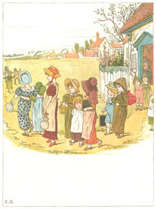 thumbnail Kate Greenaway – School is over, Oh, what fun! [from Under the Window]