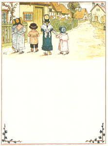 thumbnail Kate Greenaway – You are going out to tea to-day,  So mind how you behave [from Under the Window]