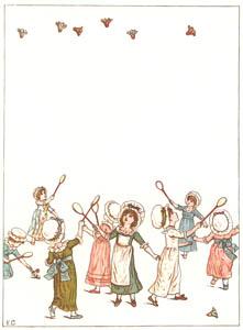 ケイト・グリーナウェイ – 羽根よ なんて高くあがるの? それなのに なぜおりてくるの? (窓の下でより)のサムネイル画像