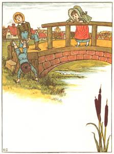 ケイト・グリーナウェイ – トミーはおばかさんだった 「ぼく 飛べるんだよ」 といいました (窓の下でより)のサムネイル画像