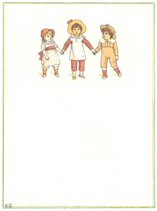 """thumbnail Kate Greenaway – """"For what are you longing, you three little boys? Or what would you like to eat? [from Under the Window]"""