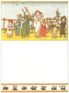thumbnail Kate Greenaway – Then ring the bells! then ring the bells! For this fair time of Maying [from Under the Window]