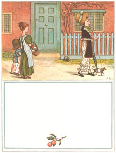 thumbnail Kate Greenaway – Yes, that's the girl that struts about, She's very proud—so very proud! [from Under the Window]