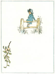 "thumbnail Kate Greenaway – ""Shall I sing?"" says the Lark, ""Shall I bloom?"" says the Flower [from Under the Window]"