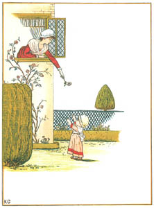 thumbnail Kate Greenaway – Little baby, if I threw This fair blossom down to you [from Under the Window]