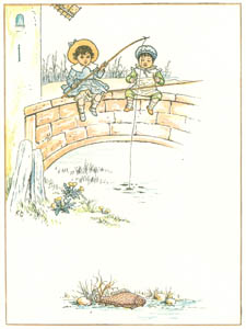 thumbnail Kate Greenaway – The finest, biggest fish, you see, Will be the trout that's caught by me [from Under the Window]