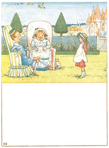 thumbnail Kate Greenaway – Prince Finikin and his mamma Sat sipping their bohea [from Under the Window]