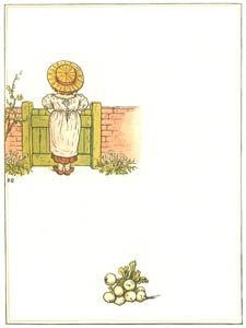 thumbnail Kate Greenaway – Heigh ho!—time creeps but slow: I've looked up the hill so long [from Under the Window]