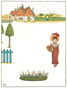 thumbnail Kate Greenaway – My house is red—a little house, A happy child am I [from Under the Window]