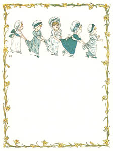 thumbnail Kate Greenaway – Ring the bells—ring! Hip, hurrah for the King! [from Under the Window]